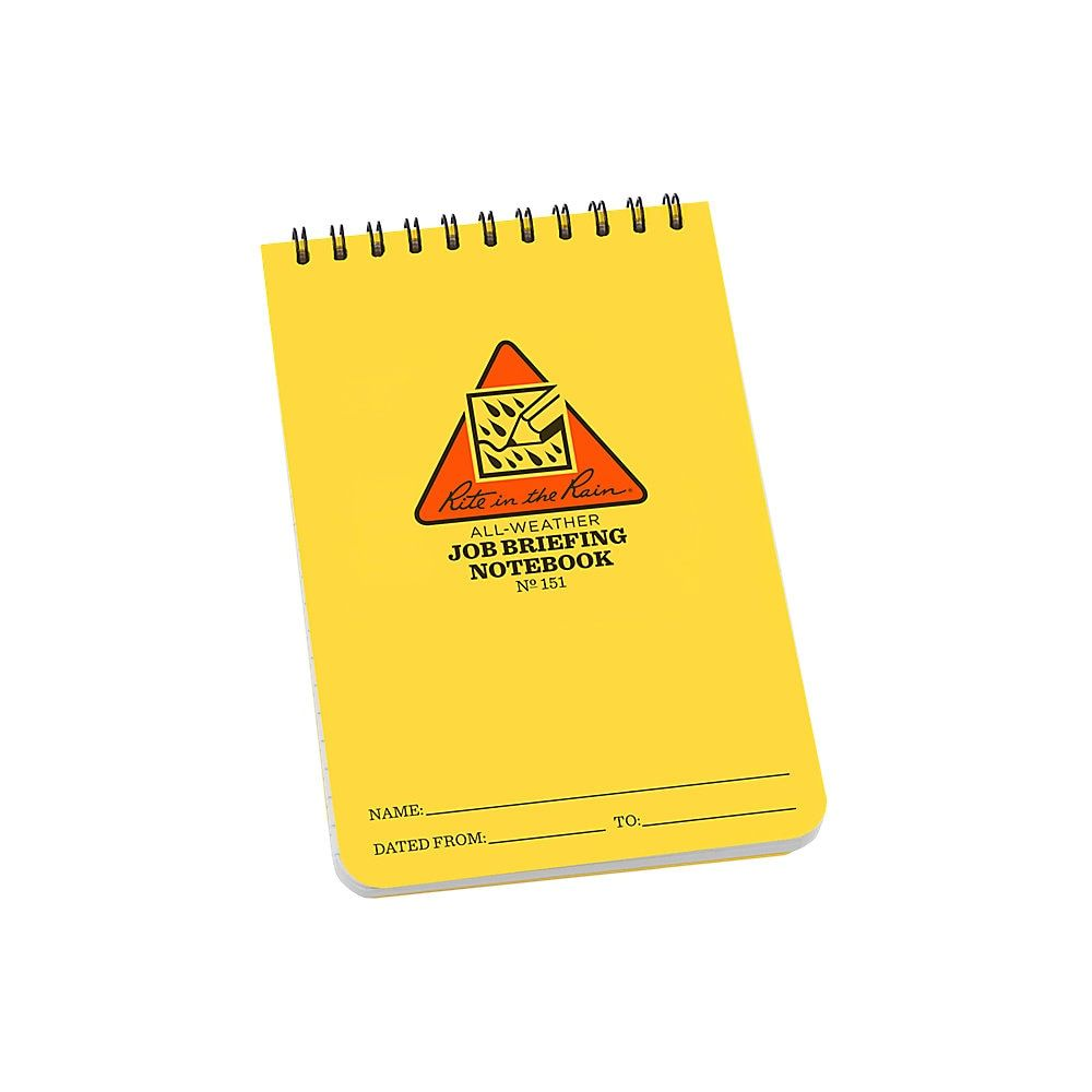 Rite In The Rain All Weather Spiral Notebooks Job Briefing 4 X