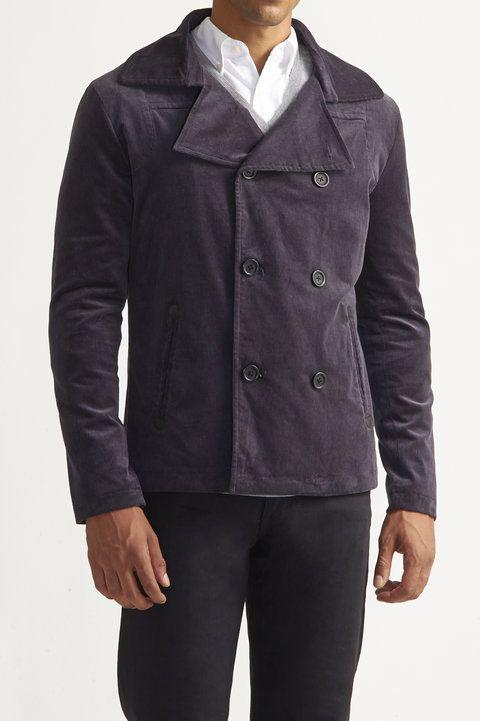 Corduroy Pea Coat