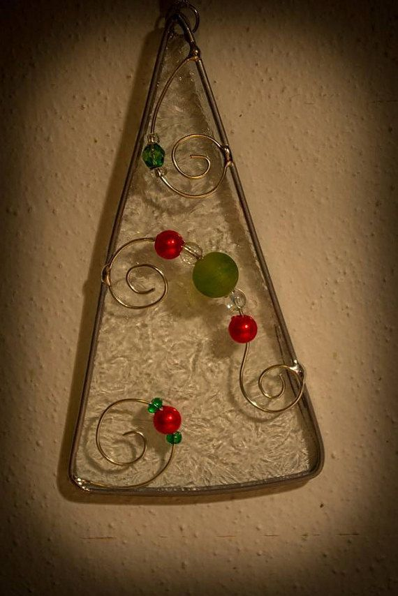 Stained Glass Tree Sun Catcher Catcher and Stained glass christmas