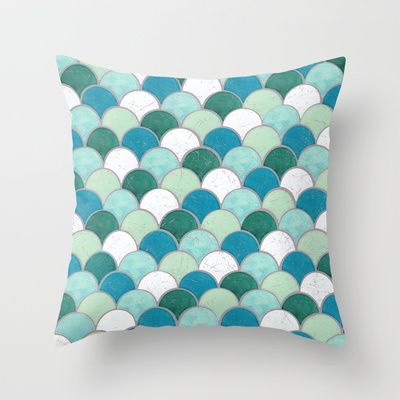 Buy Distressed Fish Scale Pattern by Ray van Halen as a high quality Throw Pillow. Worldwide shipping available at Society6.com. Just one of millions of…