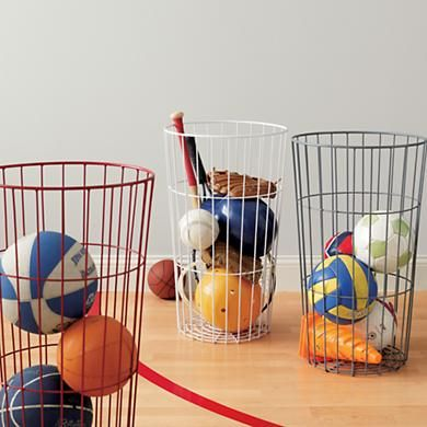 Land of Nod Kids Storage Containers Kids Flea Market Wire Ball