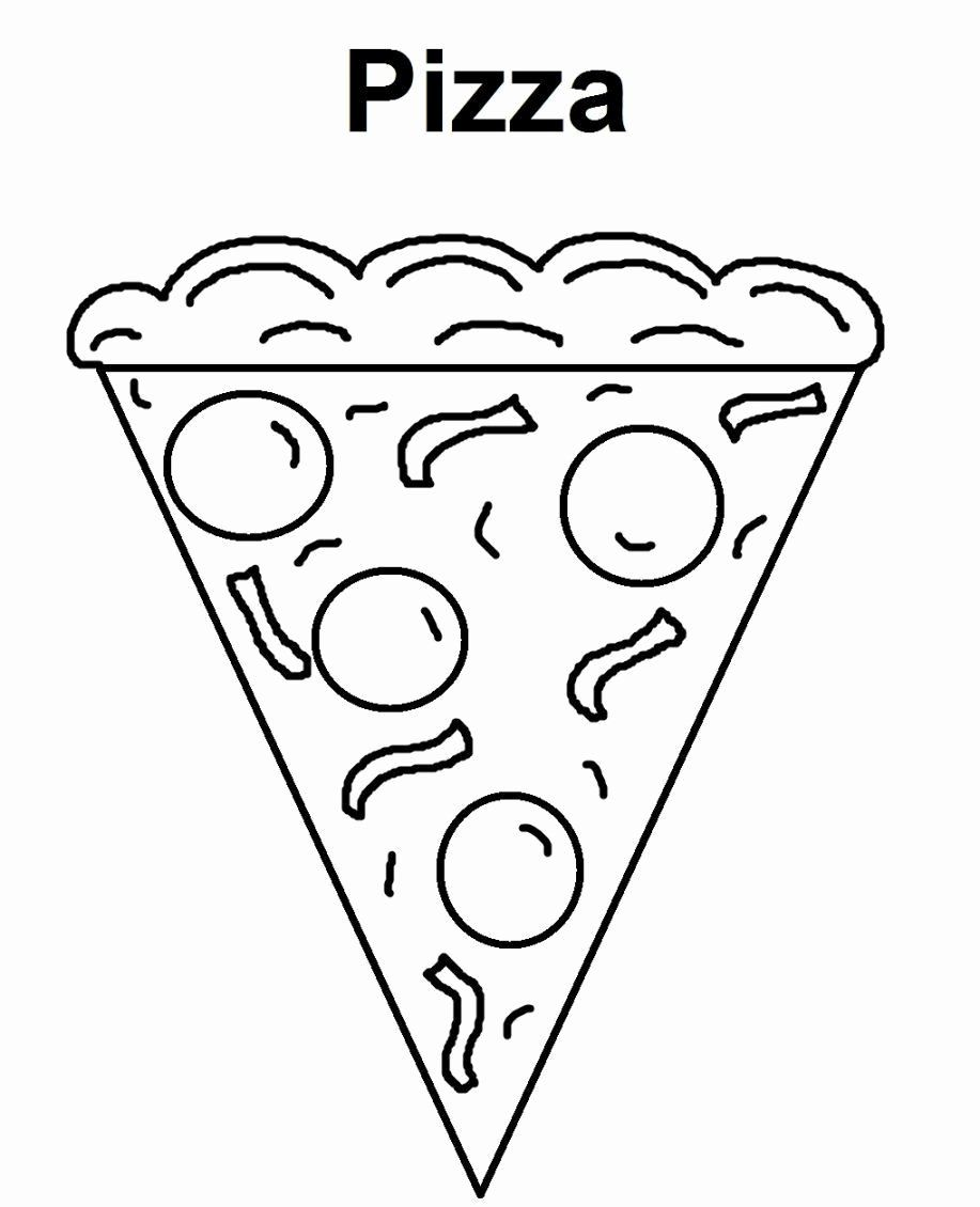 Pizza Coloring Pages Print Luxury Watermelon Slice Drawing Pizza Coloring Page Coloring Pages Cartoon Coloring Pages