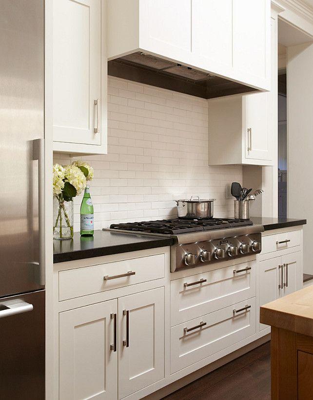Kitchen Backsplash White Ceramic Subway Tiles The In This Is
