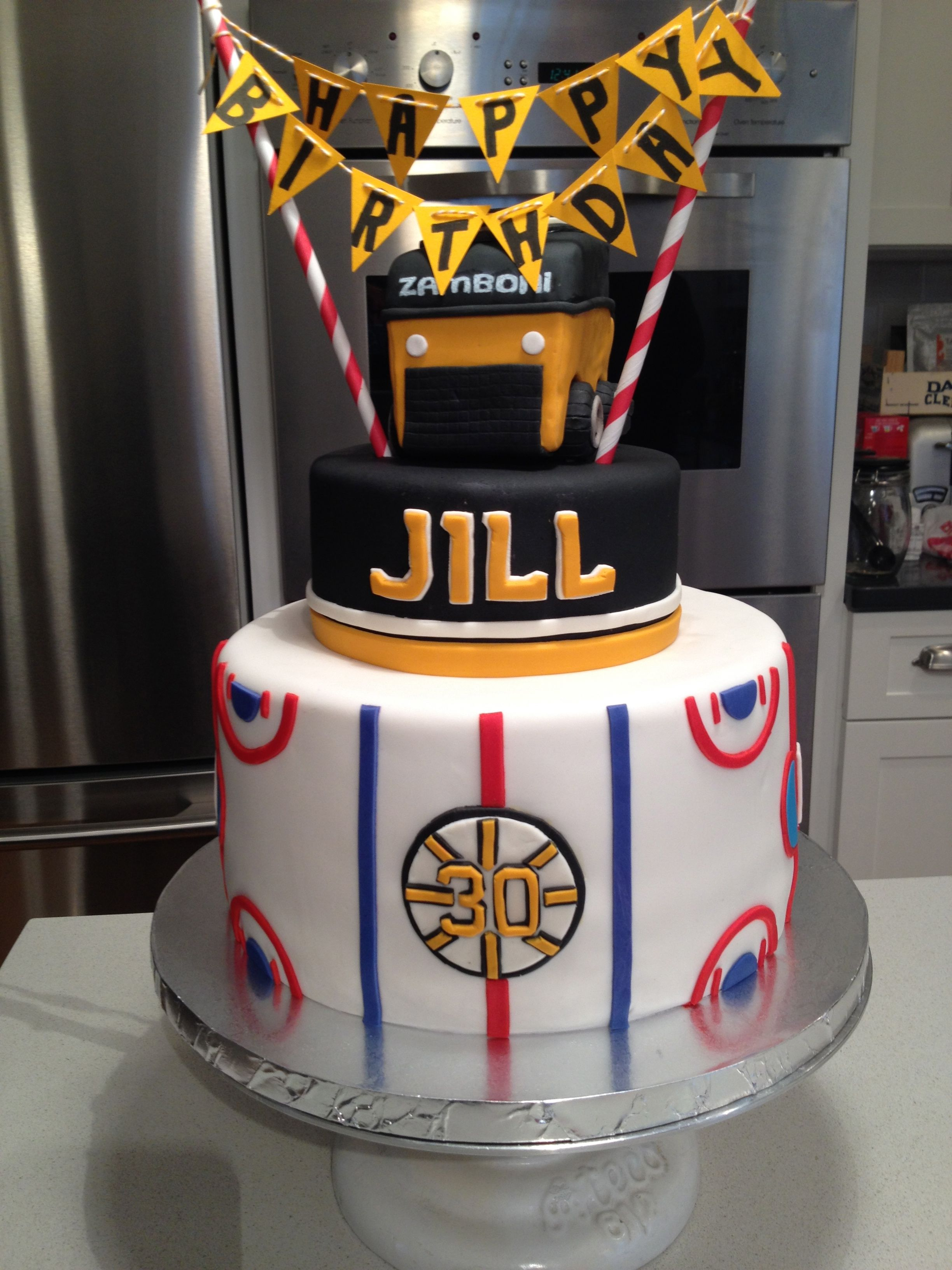 Boston Bruins Birthday Cake Complete With A Zamboni