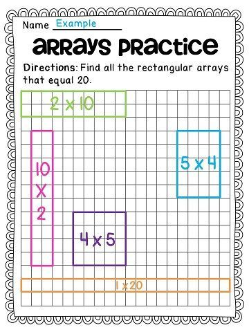 arrays arrays arrays fun educational finds third grade math homeschool math teaching math. Black Bedroom Furniture Sets. Home Design Ideas