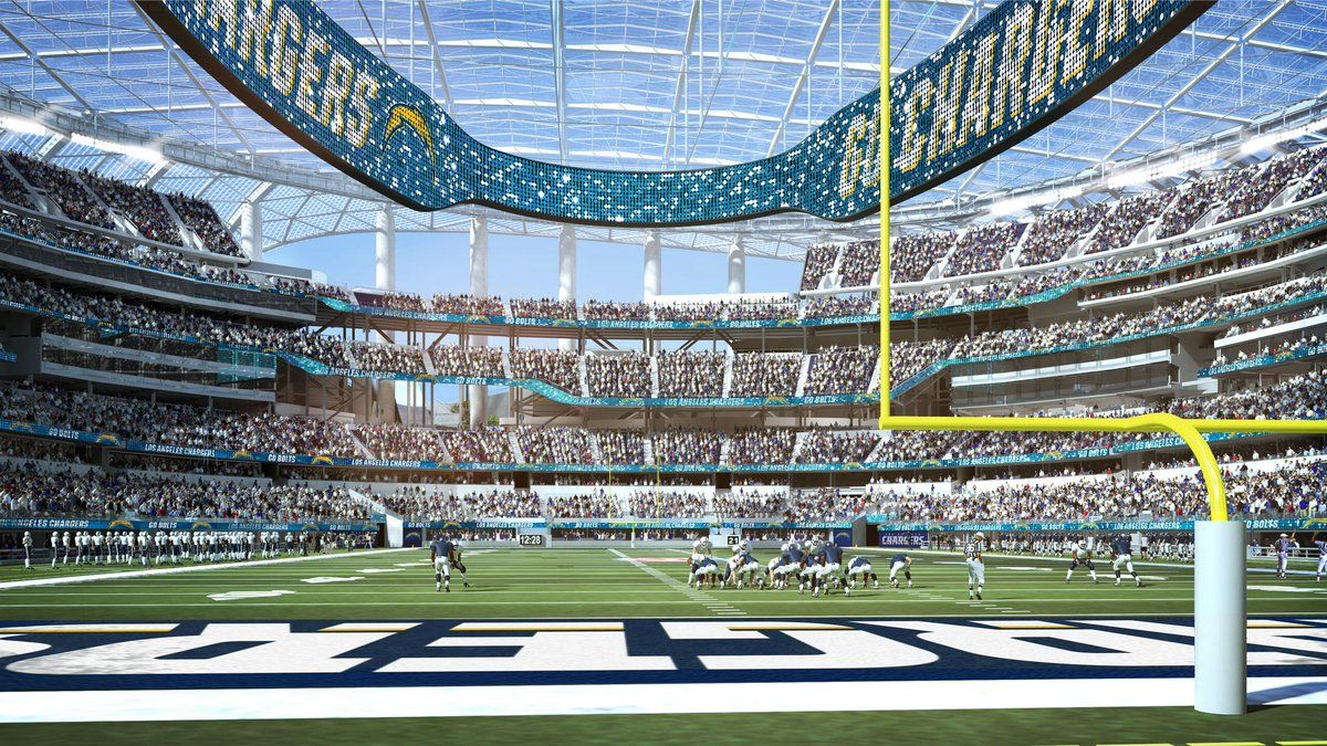 Los Angeles Chargers Released Renderings Stadium Hollywood Park