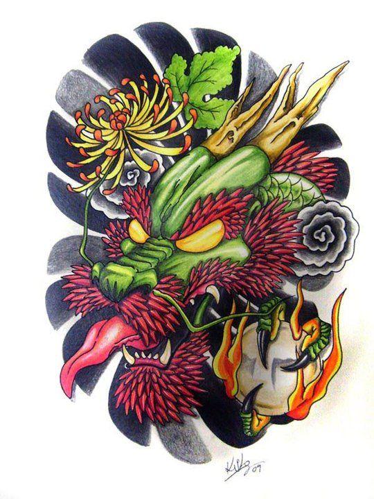 Dragon Head For Tattoo By Edilsonr74 D5773xq Jpg 540 720 Dragon Head Tattoo Dragon Tattoo Art Small Dragon Tattoos