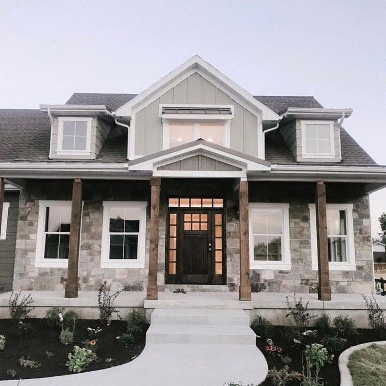 42 Stunning Dream Home Ideas And Cool Home Remodel 27 Aegisfilmsales Com In 2020 Dream House Exterior Modern Farmhouse Exterior House Designs Exterior