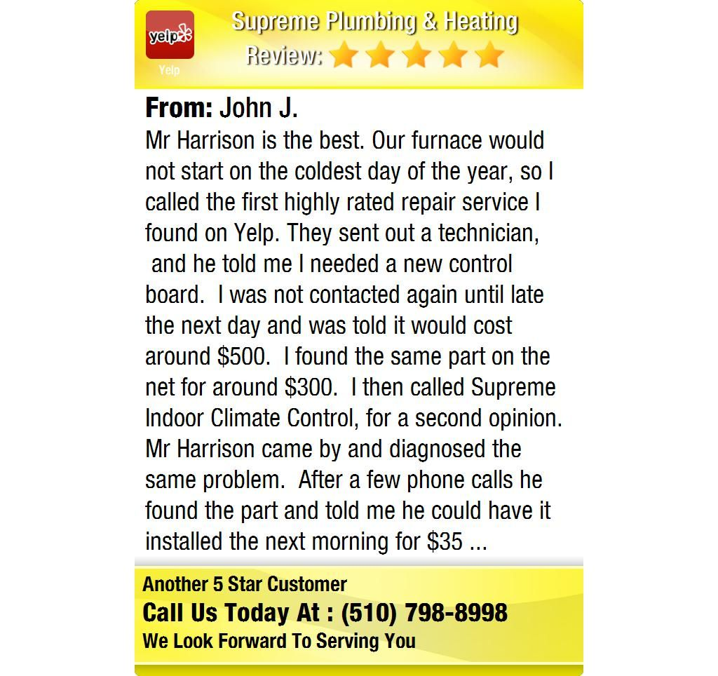 Mr Harrison is the best. Our furnace would not start on the coldest day of the year, so I...