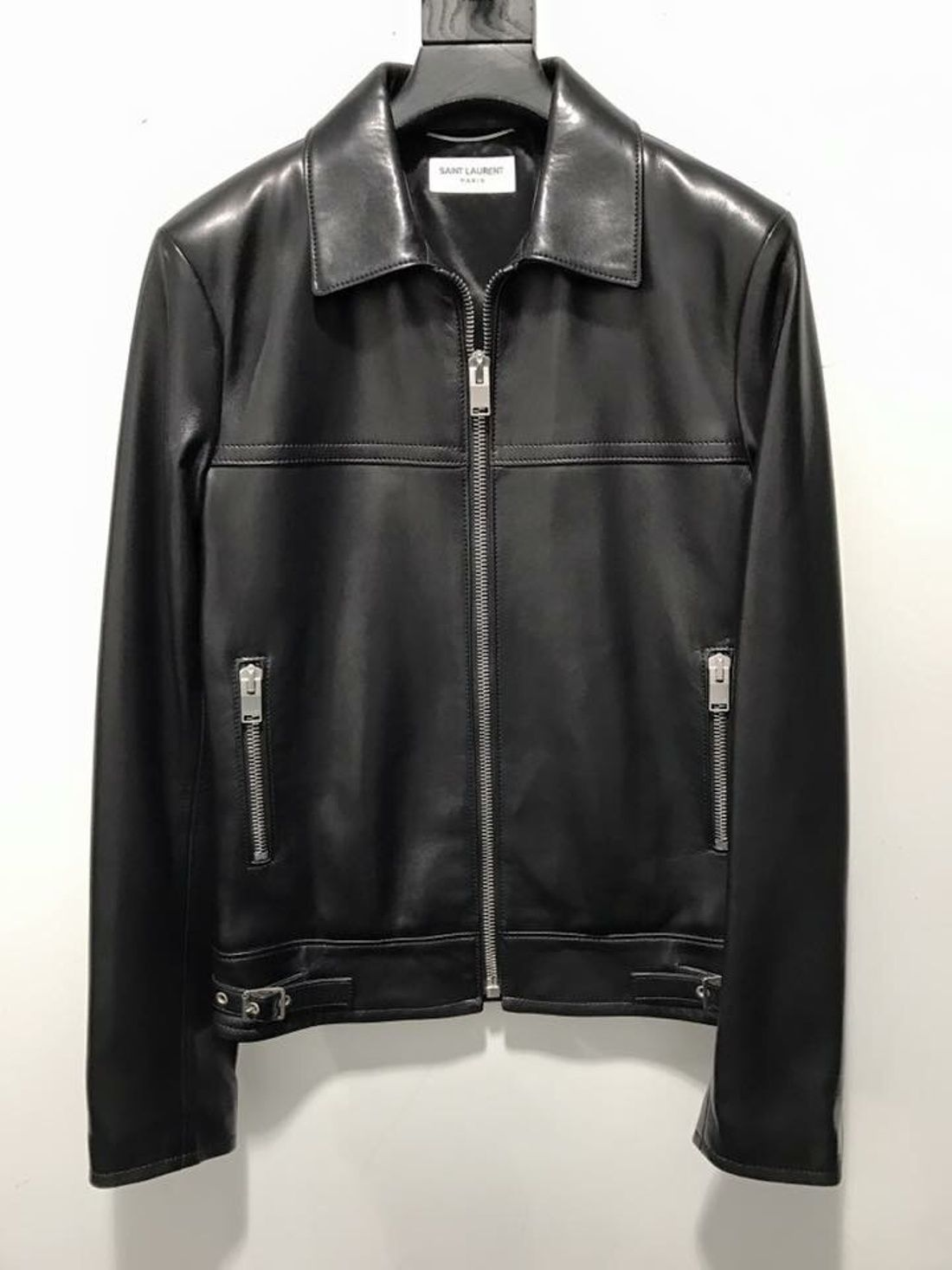 89c8bc4c9 Hedi Slimane × Saint Laurent Paris Classic Biker Leather Jacket Sz46 ...