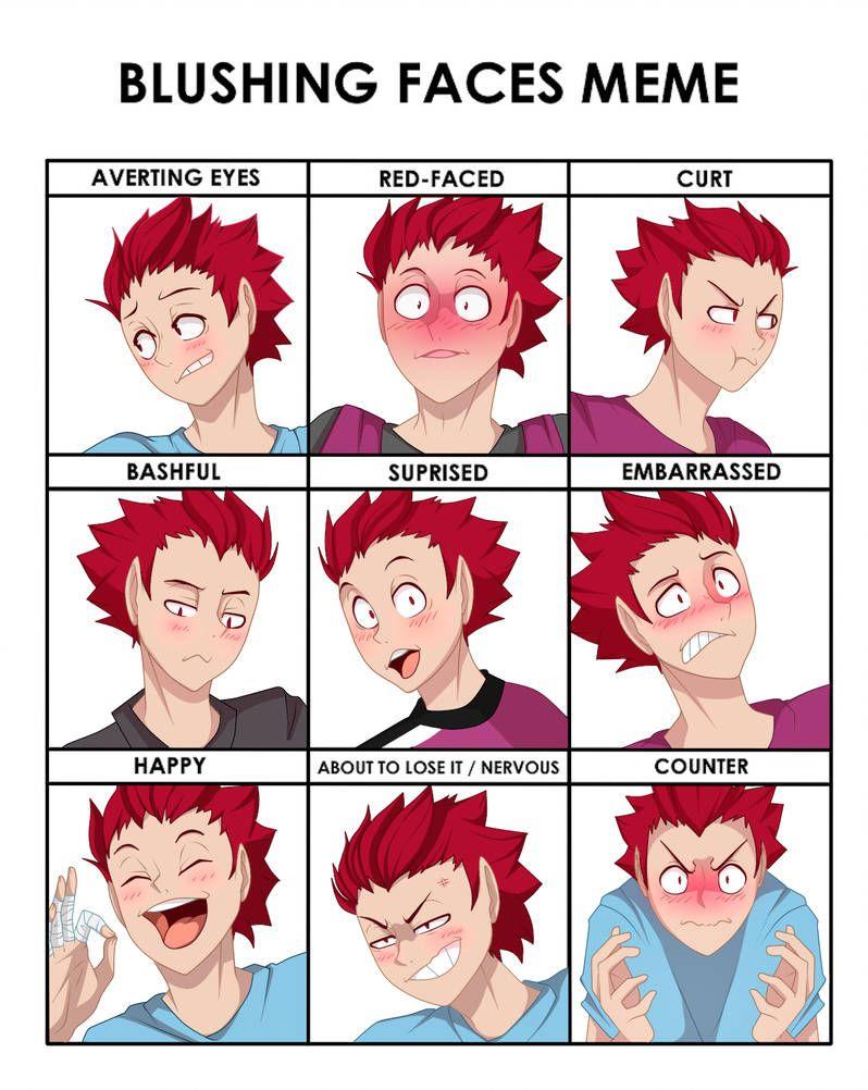 Tendo S Blushing Faces By N Steisha25 Blushing Face Haikyuu Anime Haikyuu