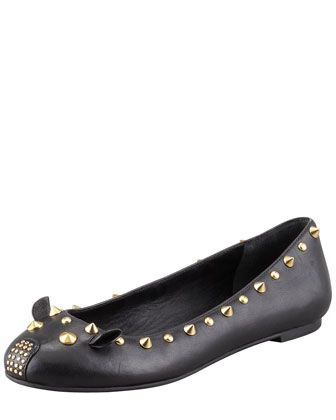 Studded Mouse Ballerina Flat, Black by MARC by Marc Jacobs at Neiman Marcus.