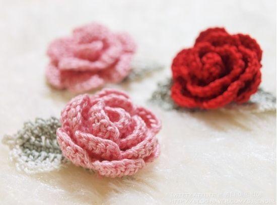 Delicadezas en crochet Gabriela: Rosas | flores al crochet | Pinterest