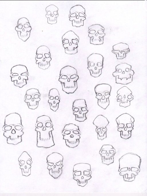 Drawing ideas - skulls