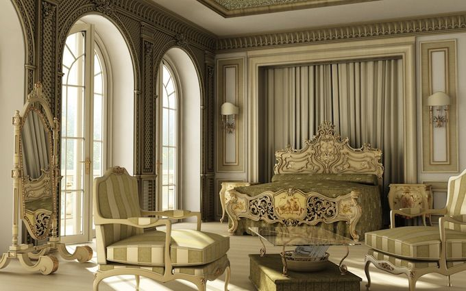Interior Design Style: Victorian master bedroom suite ✦ Characteristics: Excessive furniture fabrics & Interior Design Style: Victorian master bedroom suite ...
