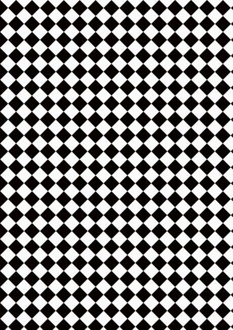 Black And White Tile Floor Paper Doll House