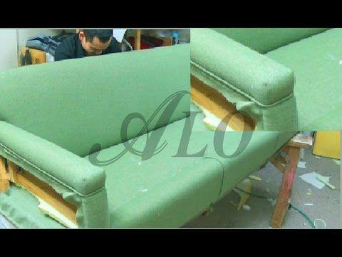 Diy How To Upholster A Sofa Aloworld Youtube Modern Upholstery Fabric Cleaning Upholstery Upholstery Foam