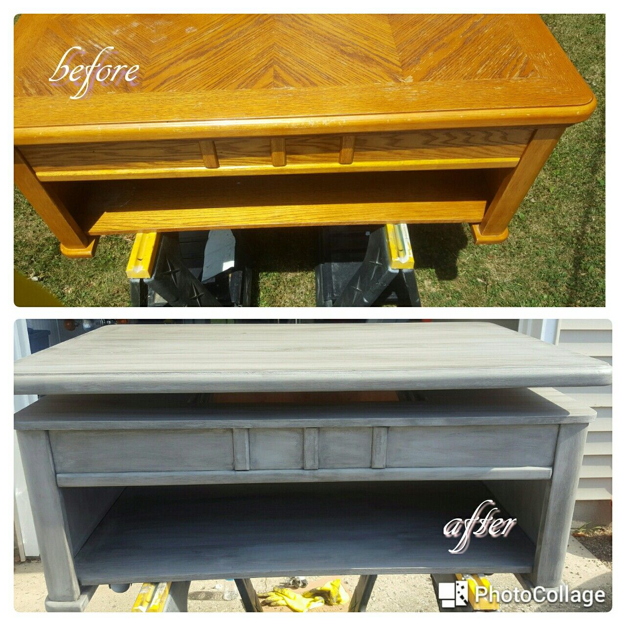 Lift Top Coffee Table Refurbished With Windsor Gray Chalk Paint And Valspar Antiquing Glaze Refurbished Coffee Tables Coffee Table Refinish Cheap Coffee Table