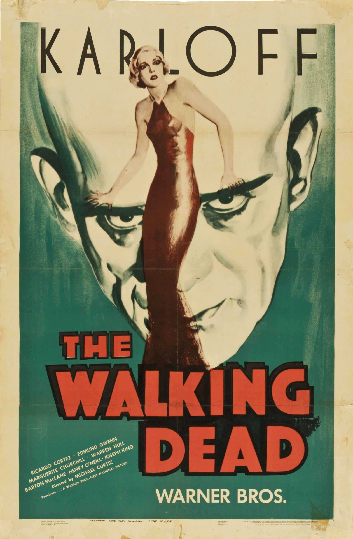 Walking Dead with Karloff Vintage Horror Movie Poster Framed Wall ...