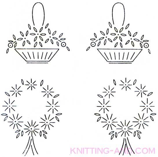Free embroidery pattern small lazy daisy stitch patterns