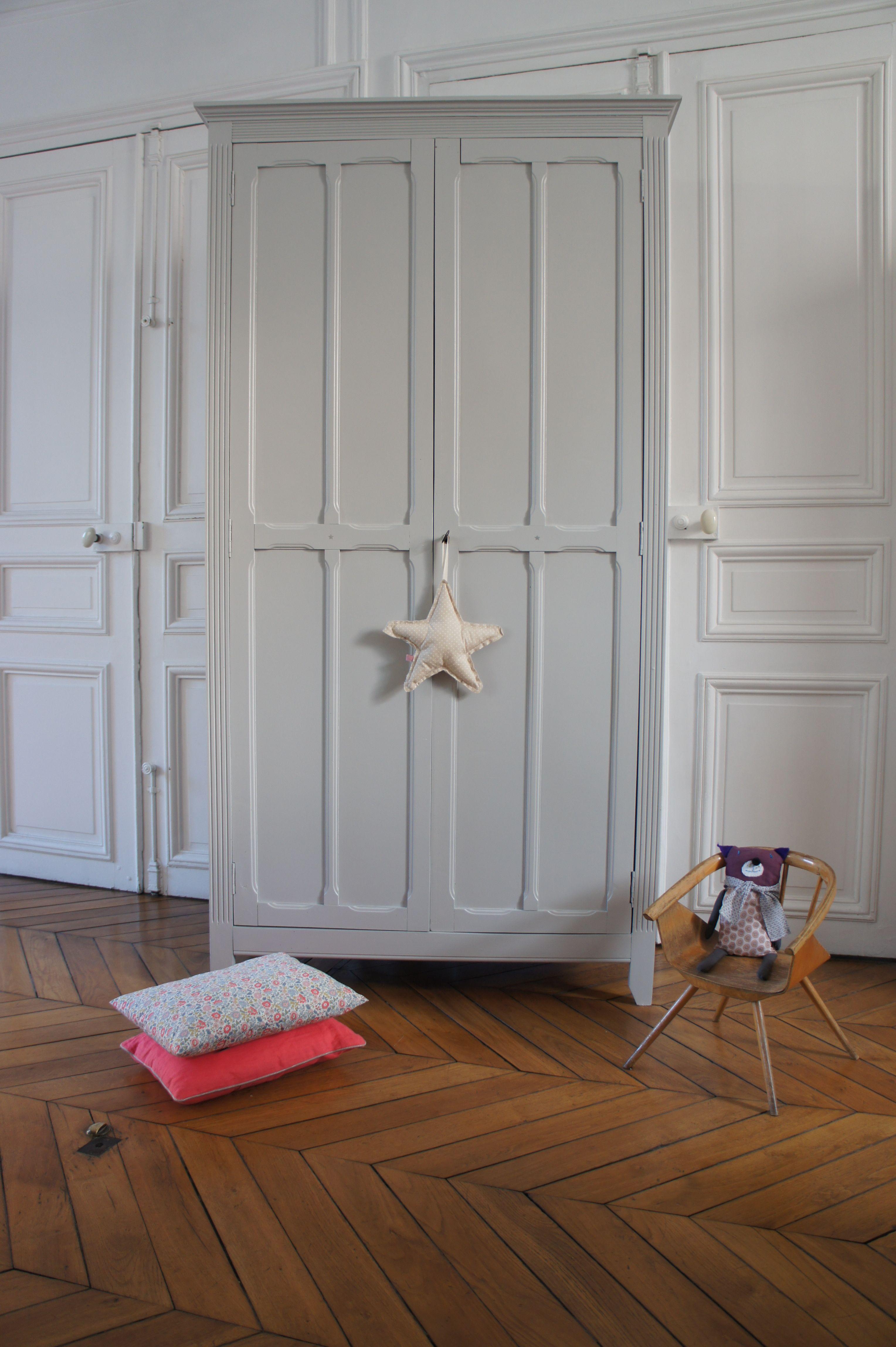 Armoire parisienne Gris perle Armoires rangement