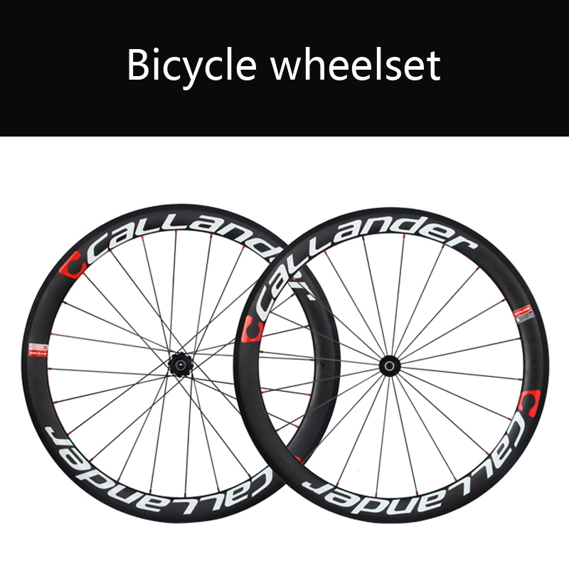 626.40$  Watch now - http://aliw44.worldwells.pw/go.php?t=32717156284 - CALLANDER  50mm Clincher Tubular Road Bike Carbon Wheels Bicycle RimsFOSS Hub Carbon Road Bicycle wheelset   1660g