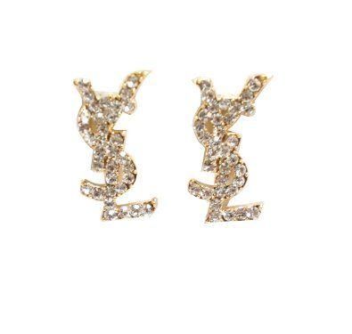 721fb41ae31d4a Luxury Crystal Stud Earrings - YSL: Jewelry | jewlels | Earrings ...