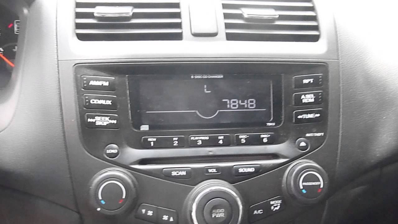 honda accord 2003 radio code - 2000 honda accord radio code reset