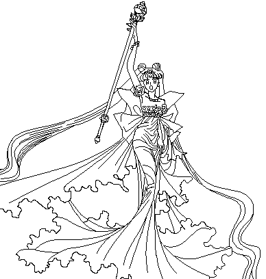 queen serenity coloring pages | Manga Queen coloring page by ParamourPhoenix on DeviantArt ...