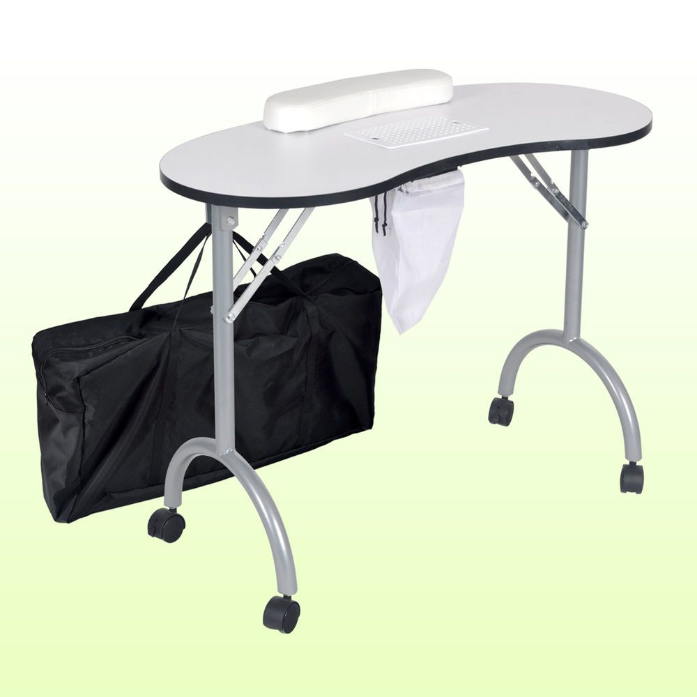 Dust Collector Foldable Portable Manicure Nail Table Desk Station ...