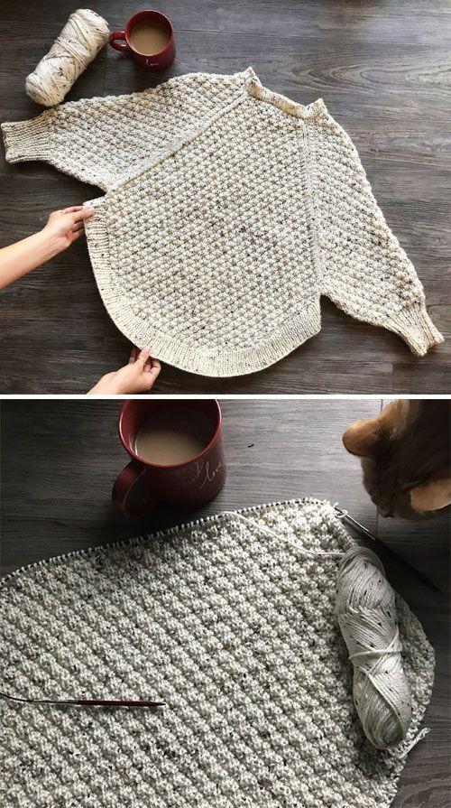Photo of Great Curves Knit Poncho  Kostenloses Muster (Schöne Fähigkeiten  Häkeln Stri…