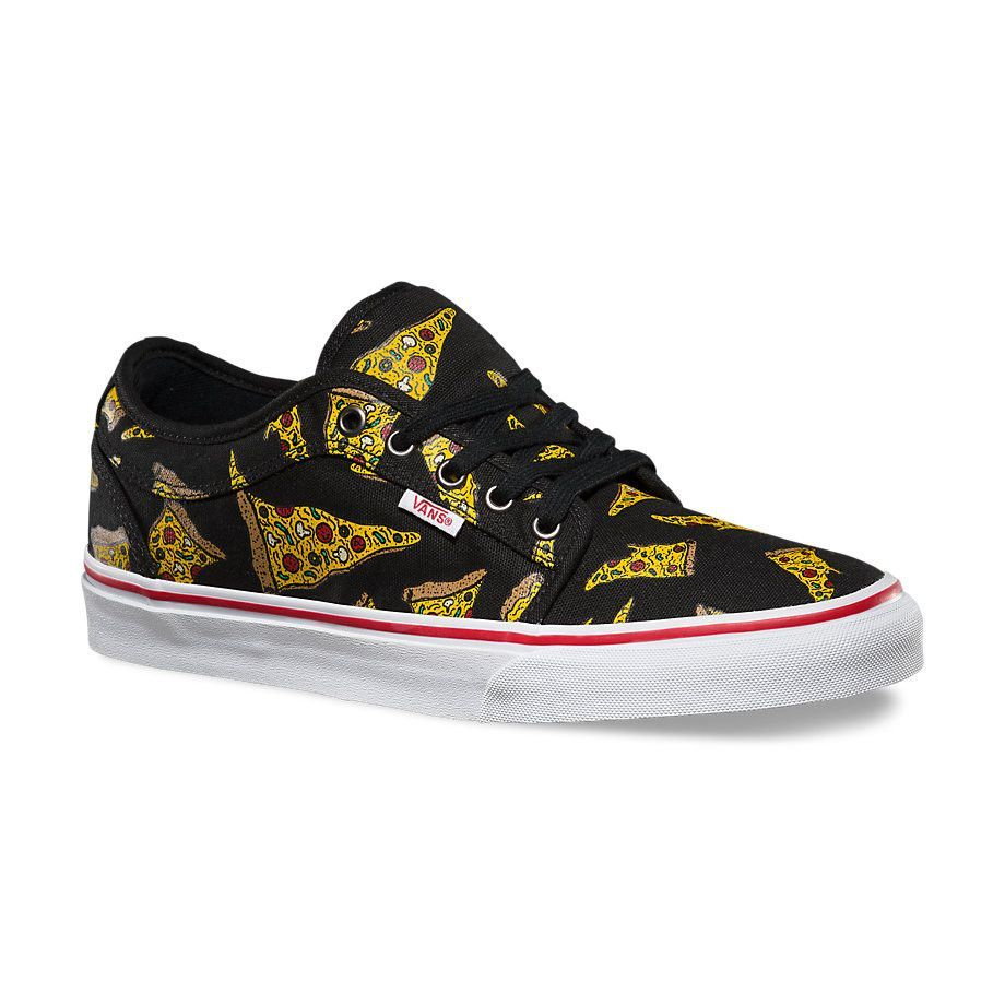 d83c4e497b0715 Vans Men s Chukka Low Pizza Shoes - Black   White