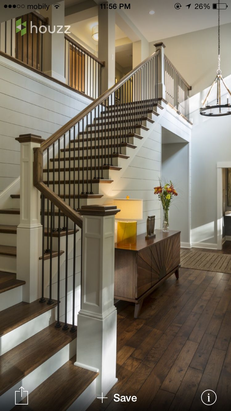 Best Beautiful Staircase House Design New Homes Rustic Wood Floors 400 x 300