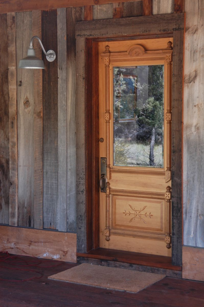 Custom Made Salvaged Entry Door And Frame By Jetwoodshop Rustic