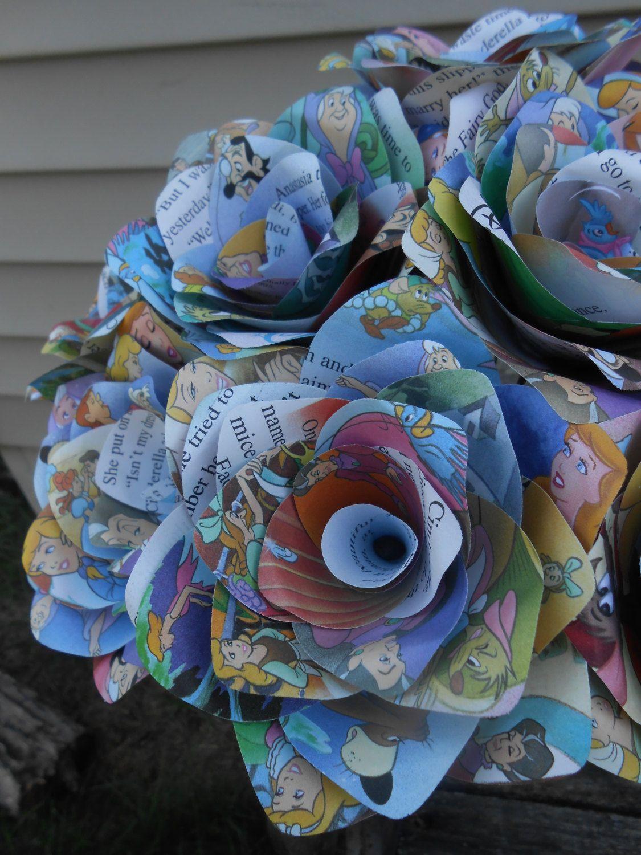 Paper Roses Unique Gift Home Decor Wedding Bridal Bouquet