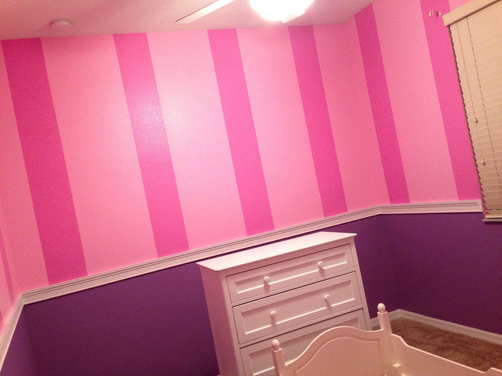 pink and purple striped wall decor ideas - Google Search | Kids ...