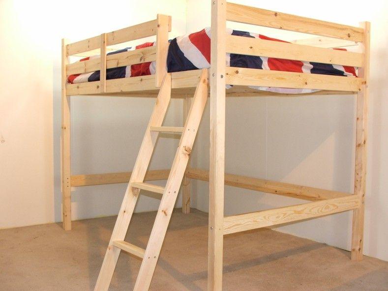 Celeste 4ft 6 Double HEAVY DUTY Solid Pine HIGH SLEEPER Bunk Bed