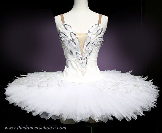Professional Classical White Platter Adult Tutu Ballet Costume Attached Bodice