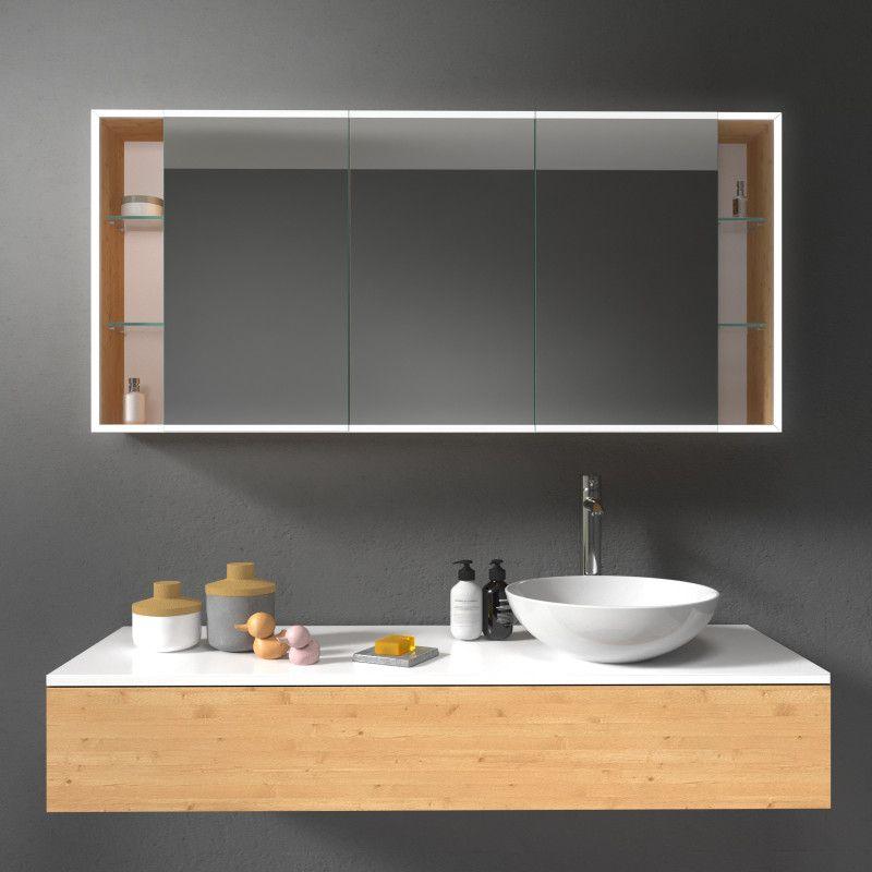 Moderner Spiegelschrank Mit Led Beleuchtung Rundherum Modell Munchen 4 Nach Mass Konfigurierbar Je In 2020 Spiegelschrank Bad Styling Spiegelschrank Beleuchtung