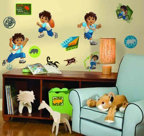 RoomMates RMK1379SCS Go Diego Go Peel Stick Wall Decals -- This is ...