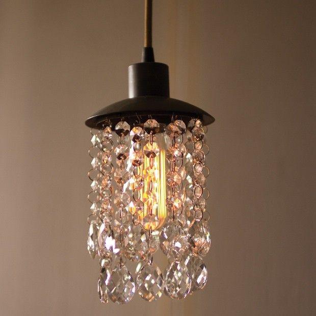 Metal Pendant Light Crystal Lights Mini Chandelier