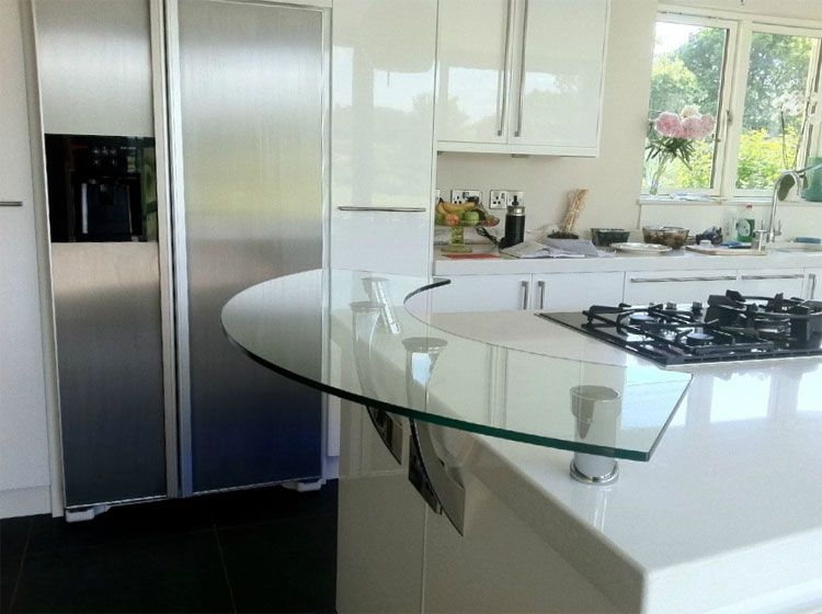 Glass Breakfast Bar - Southern Counties Glass lighting ideas - k che arbeitsplatte glas