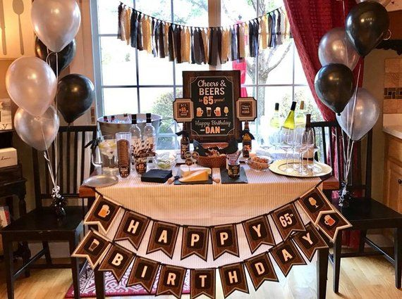 CHEERS AND BEERS Masculine Birthday Party Decorations Craft Beer Banner