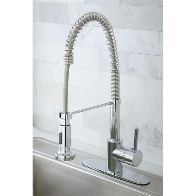 Wonderful GS8881DL Kingston Brass Chrome Single Handle Pre Rinse Commercial Style Kitchen  Faucet
