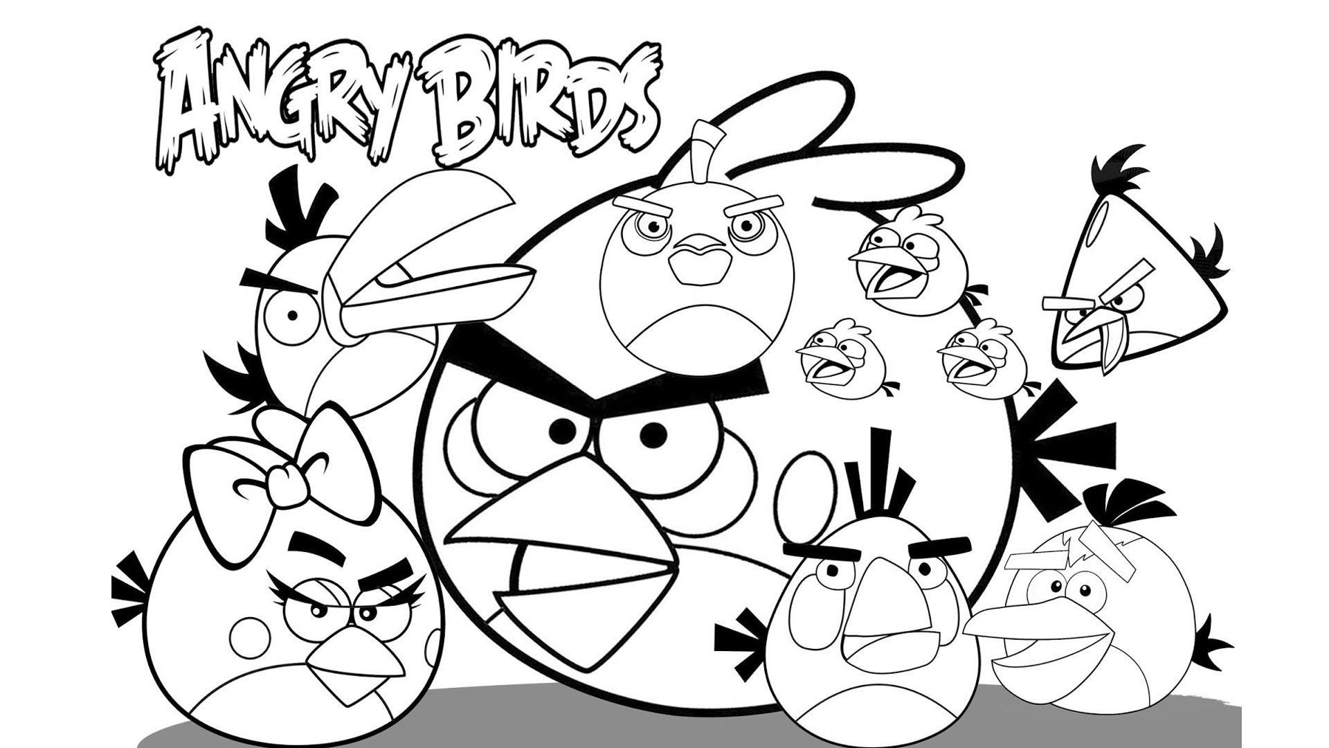 30 Best Of Angry Birds Coloring Page In