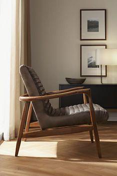 Beau Callan Chair U0026 Ottoman In Lagoon Leather   Recliners U0026 Lounge Chairs    Living   Room U0026 Board
