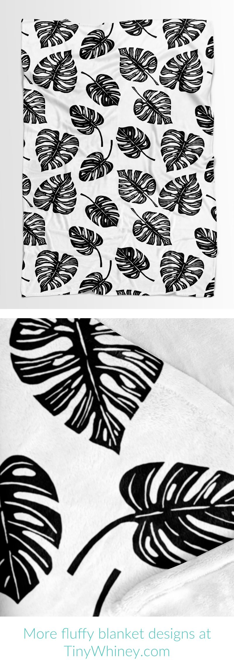 Snuggly Soft Baby Blanket With A High Contrast Black And White Monstera Leaf Print 30 X40 Ab Printed Baby Blanket Baby Sleeping Blanket Soft Baby Blankets [ 2284 x 800 Pixel ]