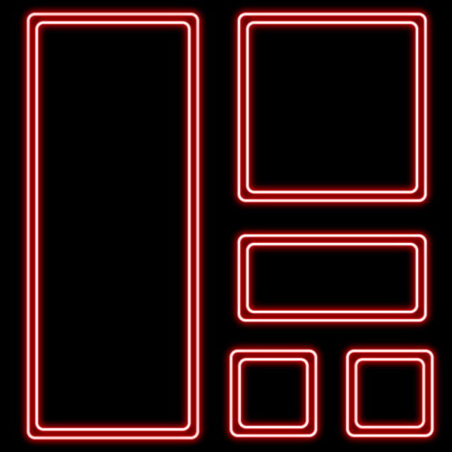 Neon Frame Vector Set Red Neon Glow Frame Png And Vector With Transparent Background For Free Download Neon Png Wallpaper Iphone Neon Neon