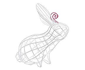 Cestino in metallo verniciato Fantastico Domestico Coniglio - h 39 cm