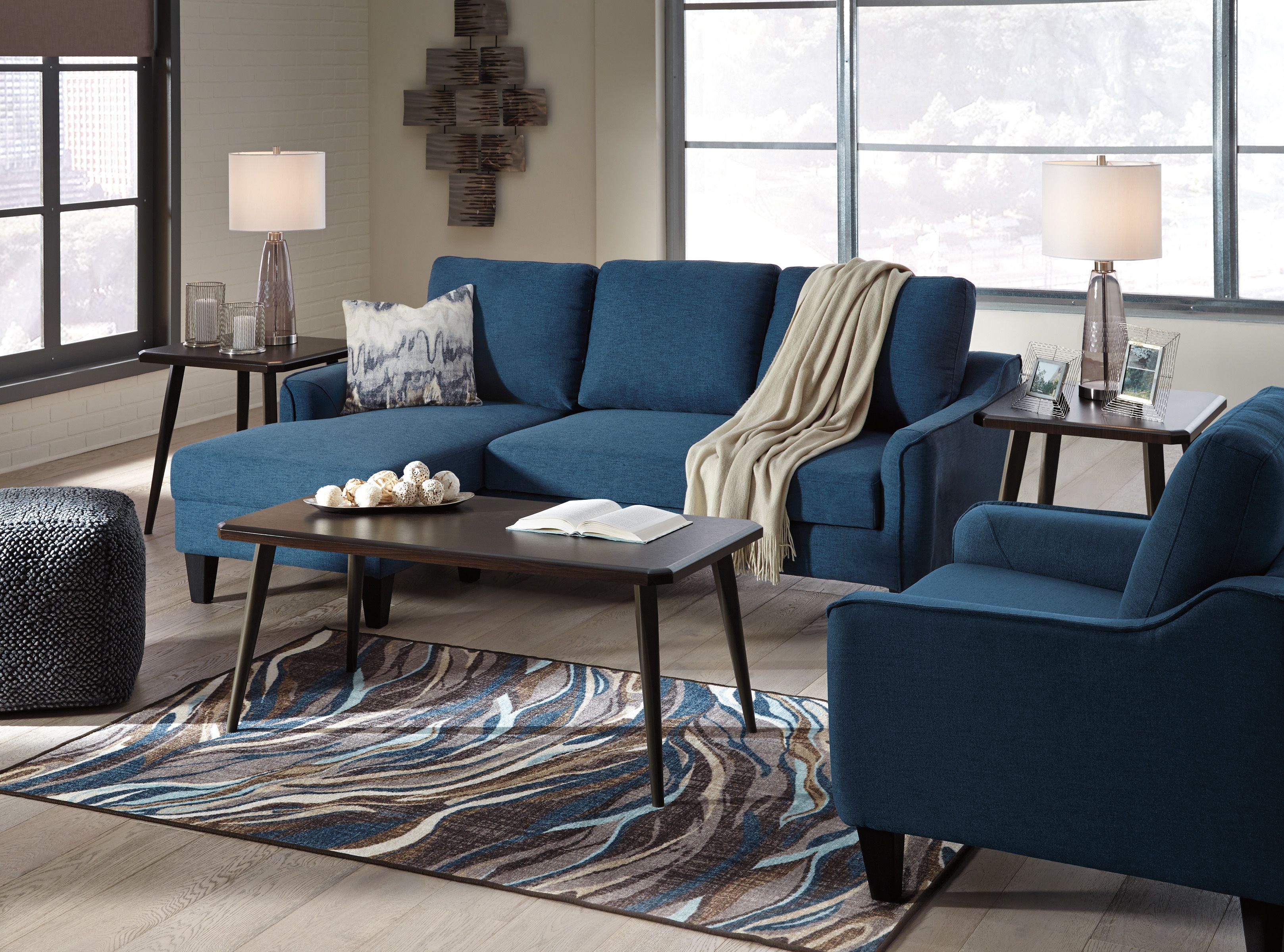Ashley Jarreau Blue Queen Sleeper Sectional Sofa Chaise Homemakers Furniture Interior Design Styles 101 In 2019 Chaise Sofa Furniture Queen Sofa Sleeper